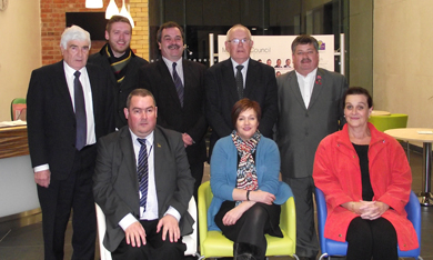 Pictured with Karen Graham (Disability Action) are Cllrs Curran, Sharvin, Walker, Andrews and O'Boyle who make up Down District Council's Equality and Diversity Working Group.