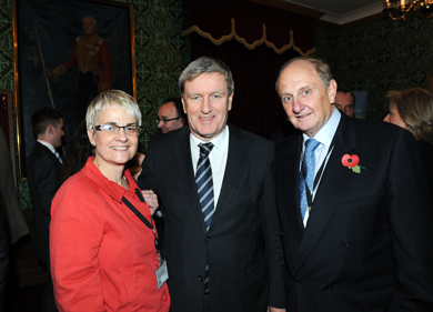 South Down MP Margaret Ritchie  with Irish Ambassador to London  Dan Mulhall  and Sir Richard Needham at the recent dinner hosted by Baroness Blood at the House of Lords to celebrate integrated education.