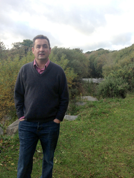 Councillor Willie Clarke looks over a potential site for flood eleviation measures.