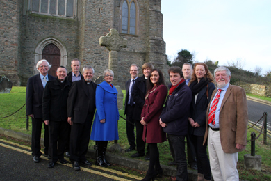 A momentous occasion. The Downpatrick cross is to be moved to a location in Down County Museum in order to preserve it.