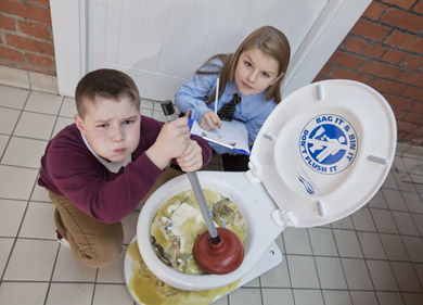 The Clue is in the Loo'This is a handy tip for this year's budding artists as NI Water launches its annual schools competition.