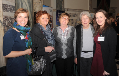 NSPCC's Catherine Nuttal, Committee members Anne Davey, Sheila Doran and Moyna Tyson, NSPCC's Clare Galbraith