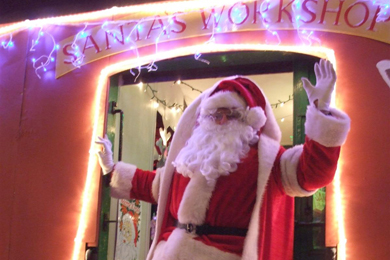 Santa gets ready for the Christmas special in Downpatrick.