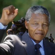 The late Nelson Mandela.