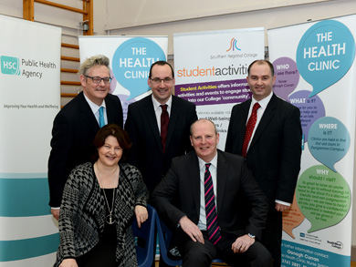 At the sexual health seminar were, back row,   Jasper Mc Kinney MBE (SRC), Frank McCourt (SRC) and Gerard Rocks (SHSCT). Front row, Dr Bernadette Cullen( PHA) and Brian Doran (SRC).