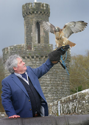 Albert Titterington with one of his feathered friends.