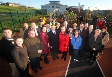 DSD Minister Nelson McCausland has officially opened the new playpark at Ballymote in Downpatrick.