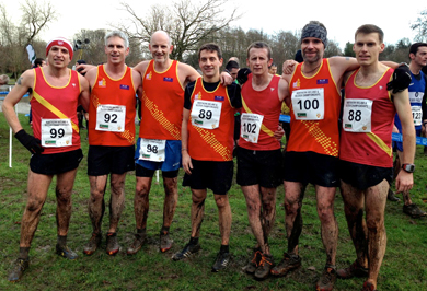 Some of East Down runners after teir race on Saturday L to R - Francis Tumelty, Mark McDowell, Declan Teague, Paul Burns, Martin Willcox, Philip Vint and Barrie Atkinson