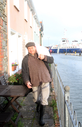 Councillor Cadogan Enright lends a hand in Strangford.