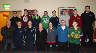 The first wave of RGU coaches ready to start our big new coaching initiative in St Colmcille's, St Brigid's and Our Lady & St Patrick's this term. Headed up by Aidan Robinson the guys and gals will work with the schools 3 days a week for 8weeks coaching the children from P5-P7 in the finer arts of gaelic football at different venues from Ballymote and the Red High 3G to the green sward at Pairc Thomáis Uí Ruiséil.