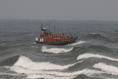The Newcastle lifeboat was alerted along with other emergency services when a hoax call reported a man had fallen into the sea in Newcastle