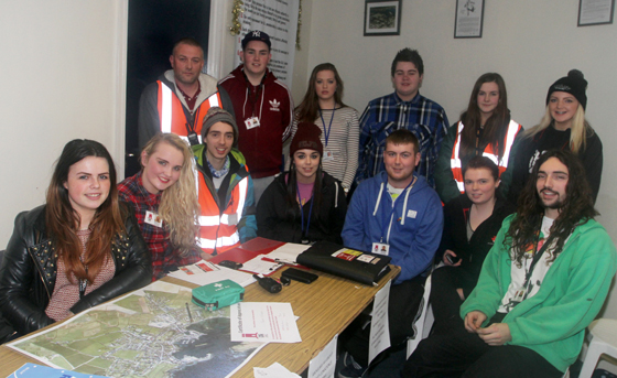 Some of the Street Safe volunteers in Ardglass with organisers Gerard Forward and William Mulhall (junior).