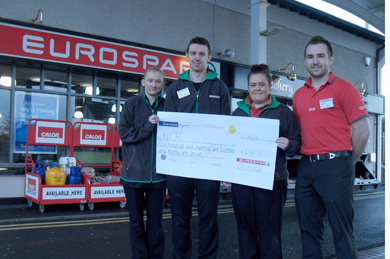 The Clough Eurospar team: from left, Simon Herron, Natasha Murphy, Ciara Kelly and Graham McKee.