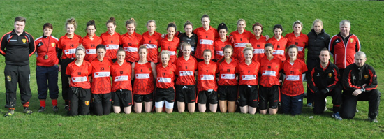 The 2014 Down Ladies footballers who faced a strong West Meath team at Mayobridge.