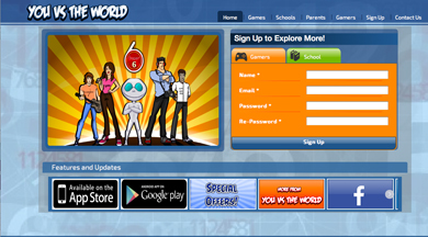 youvstheworld.co.uk - a new app to combat drugs, alcohol abuse and obesity fro young people.