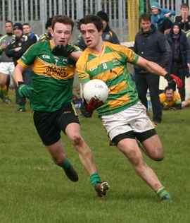 Neil Murray and Neil McNichol in action.