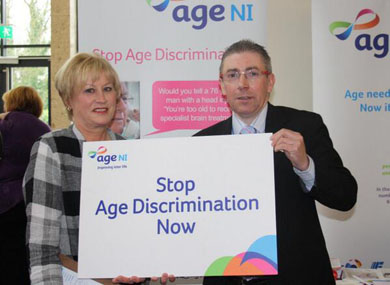 Ann Maguire of Age NI with Alliance Down Councillor Patrick Clarke at the 44thannual Alliance Party conference.