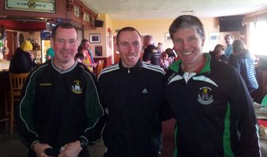 Donal Ward, Race organise, Brendan Teer (10 Winner and Francie McAlinden, Castlewellan GAC Vice Chairman.