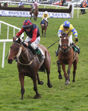 A stewards' inquiry was held after the Toals Ulster Grand National when  Unoccupied appeared to drift across Paul Carberry riding Hidden Horizons going into the home straight.