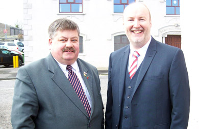 DUP Rowallene DEA candidates: Councillor Billy Walker and Harry Harvey.