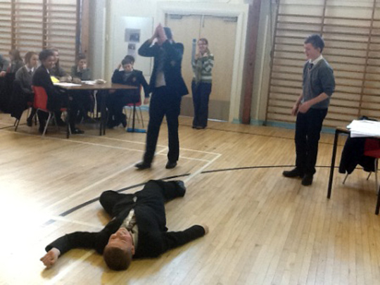A CSI-type investigation at Portaferry's St Columba's College.