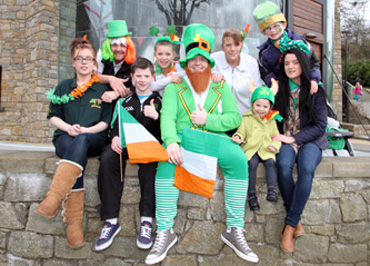 The Toner family all dressed up for St Patrick's Day.