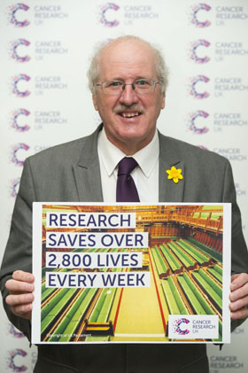 Strangford MP Jim Shannon backs Cancer Research UK.