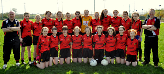 The Down Ladies U-14 team.