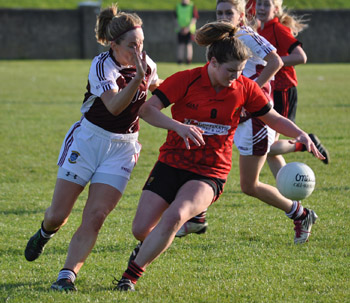 Megan Doherty in action against West Meath.