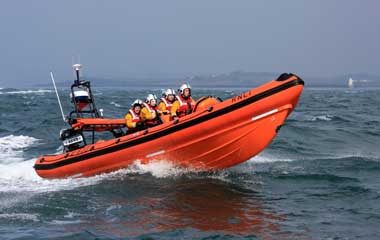 The Portaferry RNLI lifeboat rescued four men who were disoriented by fog.