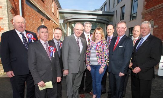 The UUP team for the Newry, Mourne and Down Council election.