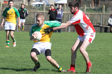 Chris Armstrong in action against St Michael's GAC.