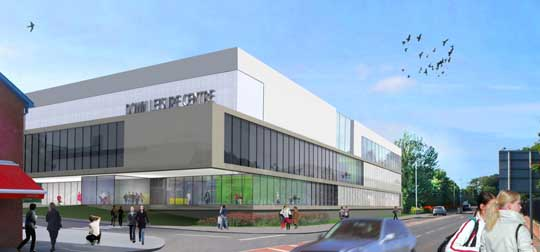 An artist's view of the new Down Leisure Centre.