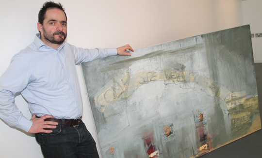 Dublin artist Dermot McNevin unveils his mixed media works in the Down ARts Centre fro the exhibition running from Friday 4 Aprol to