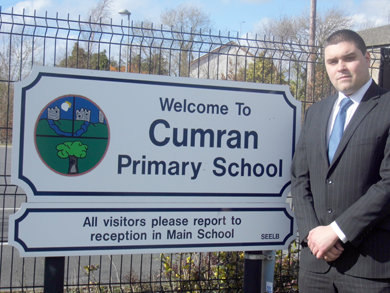 UKIP representative Alan Lewis concerned about the future of Cumran Primary School  in Clough.