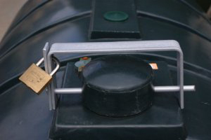 Fit an anti-theft device to your oil tank.