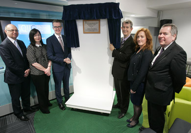 Health Minister Edwin Poots opens the new innovation centre.
