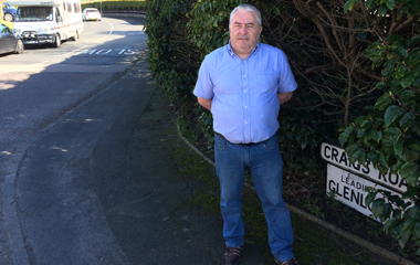 Sinn Fein candidate Eddie  Hughes is calling for traffic bollards