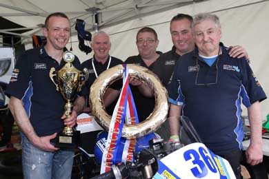 The NEI Team Horice 2014 after the Supersport 600 race win. (Photo by Tremaine Gregg).