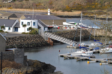 Ardglass marina a haven for visiting yachters. and local boating enthusiasts.