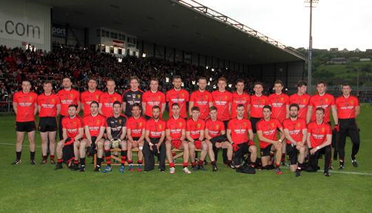 The Down team that faced Tyrone in the Ulster Championship quarter final replay.