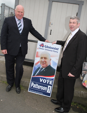 Disappointed: UUP councillors Dessie Patterson and Walter Lyons both failed to get elected.