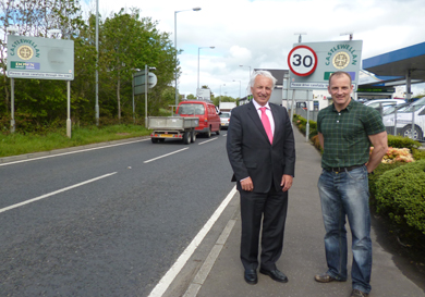 South Down MLA SŽan Rogers with Slieve Croob election candidate Shane King