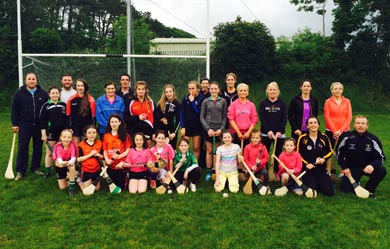 The attendees at the first night of You & Me Play Camogie' Initiative