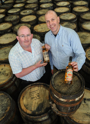 Pictured are Shane Braniff, Echlinville Distillery, with John Hood, Invest NI. (Photo by Simon Graham/ Harrison Photography).