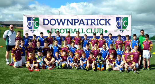 The Downpatrick FC juniors.