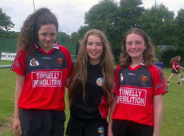 The Under-14 Camogs who represented Down at a Camogie Blitz last Saturday at the Naomh Mearnog Club in Dublin.