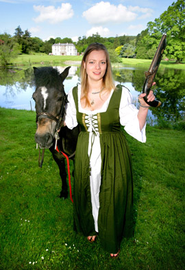 Ballynahinch heroine, Betsy Gray (aka. Ingrid Houwers) prepares for any eventuality as she helps launch the Ballynahinch Harvest & Country Living Festival.