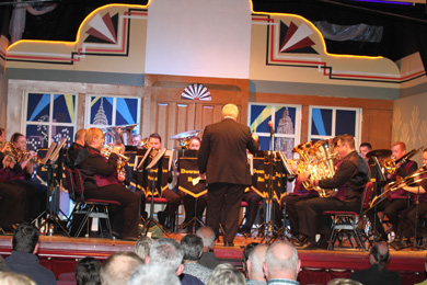 The Downshire Brass in action in Newcastle.