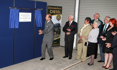 HRH Prince Edward officially opens the Downpatrick Railway Museum.